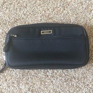 Coach makeup bag in black nylon